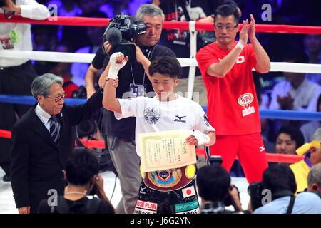 Ariake Coliseum, Tokyo, Japan. 21st May, 2017. Naoya Inoue (JPN), MAY 21, 2017 - Boxing : WBO super flyweight title - Stock Photo