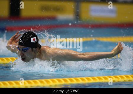 Tokyo, Japan. 21st May, 2017. Kosuke Hagino Swimming : Japan Open 2017 Men's 100m Butterfly Heat at Tatsumi International - Stock Photo