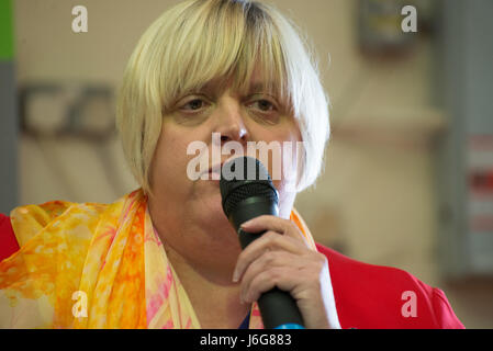 Stockport, UK. 21st May, 2017. Jackie Pearcey, Liberal Democrat Parliamentary candidate for Manchester Gorton constituency, - Stock Photo