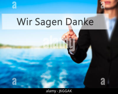 how to say thank you sir in german