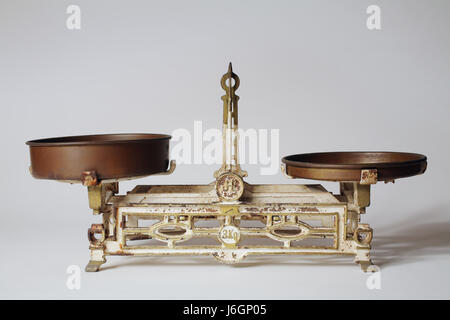 rusty equilibrium weigh scales kilogram old pointer iron rusty equilibrium - Stock Photo