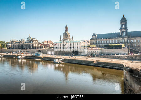 Old city of Dresden in Germany - Stock Photo