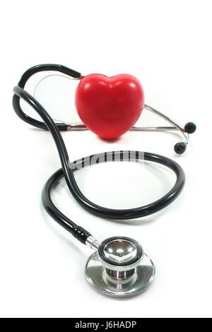 stethoscope beating of the heart lovelorn cardiac defect heart heartache doctor - Stock Photo