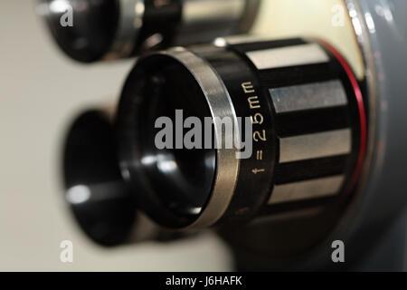 photo camera manual film movie substandard film ring macro close-up macro - Stock Photo
