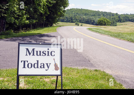 Virginia Appalachian Mountains Blue Ridge Parkway All-American Road National Scenic Byway Blue Ridge Music Center - Stock Photo