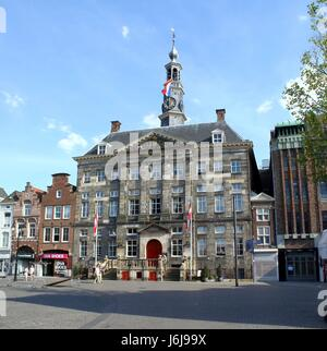 17th century City Hall of Den Bosch (Stadhuis van 's-Hertogenbosch) at Markt square. Noord Brabant province, Netherlands. - Stock Photo