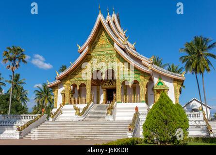Haw Pha Bang temple in Luang Prabang, Laos - Stock Photo