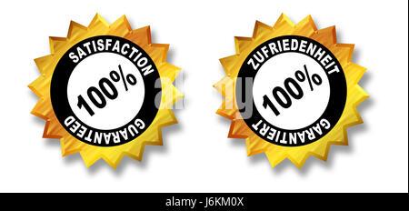 satisfaction guaranteed - Stock Photo