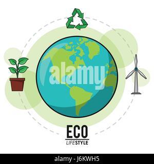 eco lifestyle earth world recycle energy nature image - Stock Photo