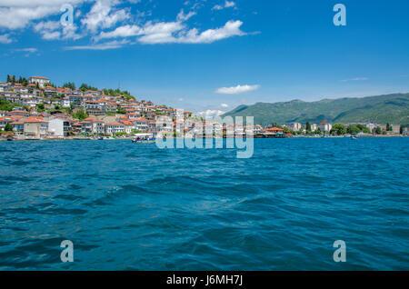 Macedonia - Ohrid Lake – Ohrid old town - Stock Photo