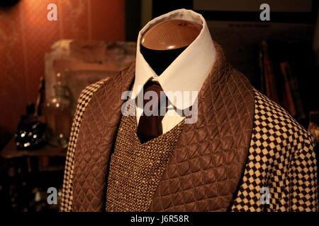 Suit     fashion     masculine tweeds - Stock Photo