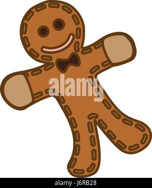 gingerbread man cookie - Stock Photo