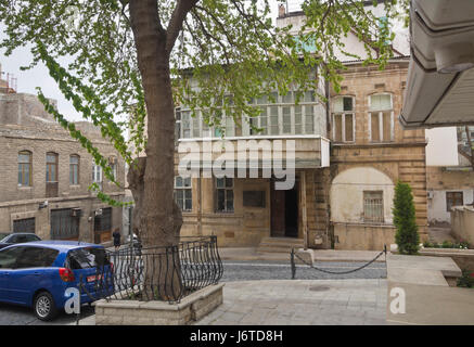 Baku old town, Icheri sheher, area in the inner city surrounded by fortification walls, Unesco World heritage site, - Stock Photo