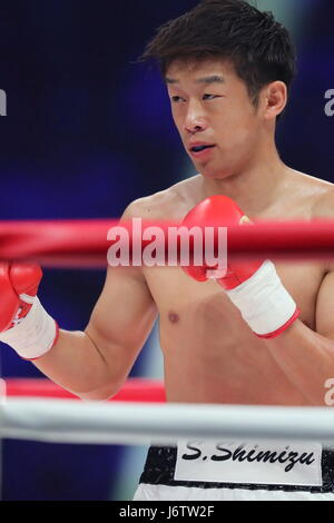 Ariake Coliseum, Tokyo, Japan. 21st May, 2017. Satoshi Shimizu (JPN), MAY 21, 2017 - Boxing : 8R featherweight bout - Stock Photo