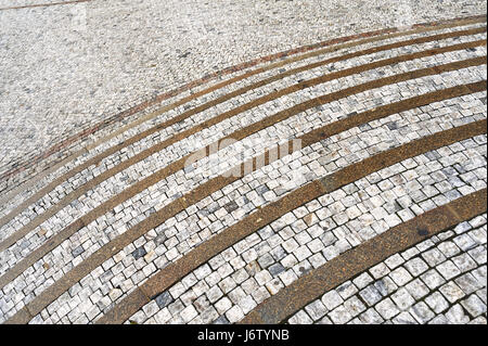 stairs staircase cobblestone granite cubes stairs object objects detail city - Stock Photo