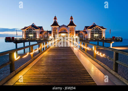 pier in sellin,rugen - Stock Photo