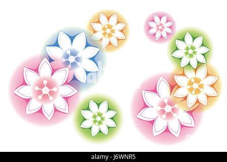 flower plant pattern texture blue beautiful beauteously nice art model design - Stock Photo