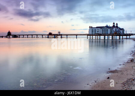 morgenstimmung sellin pier - Stock Photo