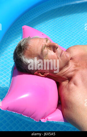 grandpa grandfather spare time free time leisure leisure time relaxation - Stock Photo