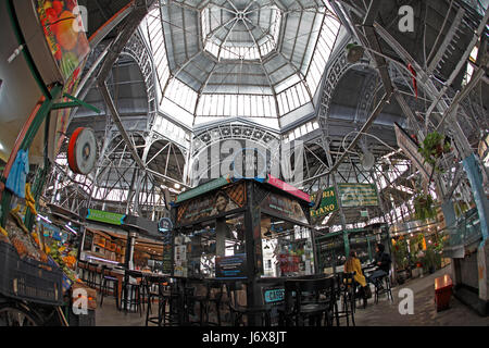San Telmo indoor market, Tourist attraction for antiques and coffee in Buenos Aires, Argentina. - Stock Photo