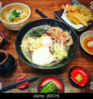 Cold noodles noodle ranmen Japanese food