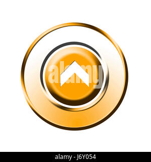 upwards upstairs direction button arrow isolated optional symbolic graphic - Stock Photo