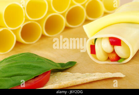 cannelloni filled with vegetables - Stock Photo