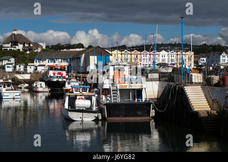 Paignton inner harbour in Torbay the birthplace of Agatha Christie,grande-bretagne, great, großbritannien, hotel, - Stock Photo