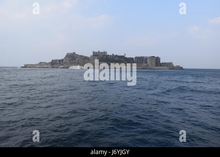 Battleship island near Nagasaki Japan - Stock Photo