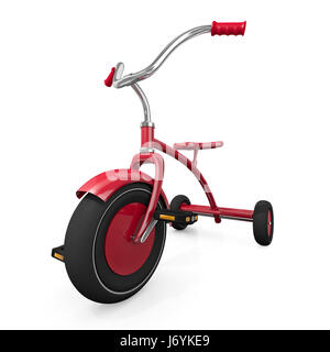 toy tricycle childhood bike bicycle cycle maddening pert coquettish cute child - Stock Photo