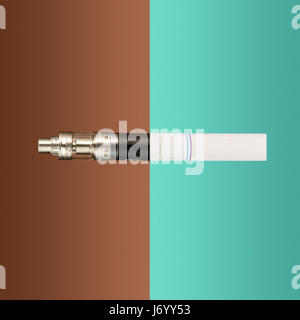 The vape and cigarettes. Collage - Stock Photo