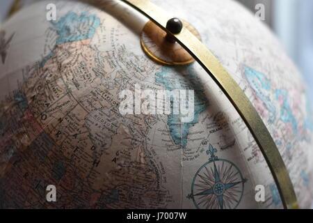 Globe Close Up - Stock Photo