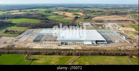 Amazon Logistics Werne, Construction site, Internet trade, Werne, Ruhr area, North Rhine-Westphalia, Germany, Amazon - Stock Photo