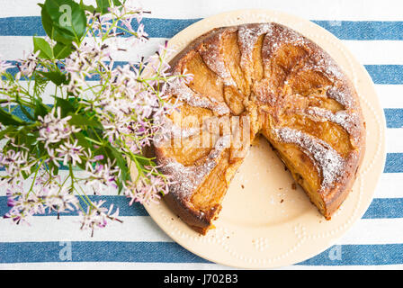 Sweet homemade apple cake - Stock Photo