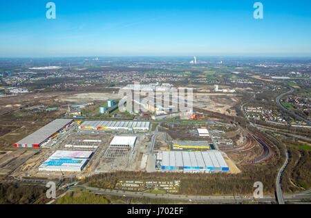 AMAZON Logistics Center Dortmund, next to Decathlon, Dortmund, Ruhr area, North Rhine-Westphalia, Germany,AMAZON - Stock Photo