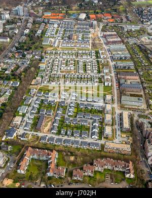 New development garden town Reitzenstein, former Reitzenstein barracks, Düsseldorf, Rhineland, North Rhine-Westphalia, - Stock Photo