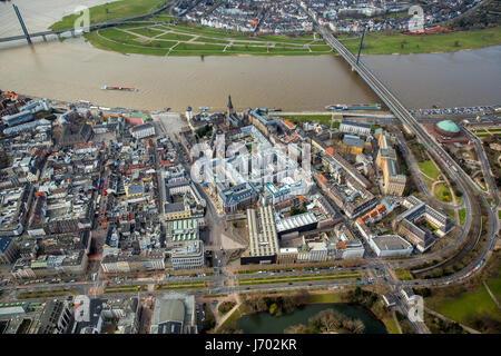 Düsseldorf's Old Town, the Rhine, Dusseldorf, Rhineland, North Rhine-Westphalia, Germany, Düsseldorfer Altstadt, - Stock Photo