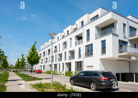 New apartment buildings at Adlershof Science and Technology Park in Berlin Germany - Stock Photo