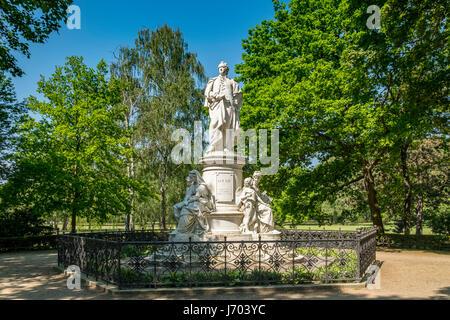 Goethe statue in Tiergarten park in Berlin, Germany - Stock Photo