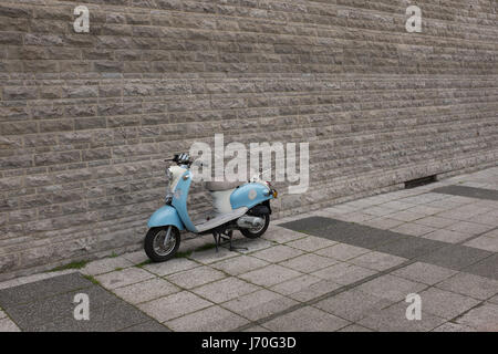 Berlin, April 26th: Old Scooter parked in Mitte, Berlin on April 26th 2017. - Stock Photo