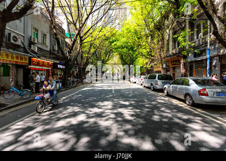 April 2017 - Guangzhou, China. A quiet street in a historic neighborhood in Guangzhou. - Stock Photo