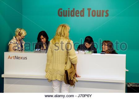 Miami Beach Miami Florida Beach Convention Center Art Basel ArtNexus guided tour - Stock Photo