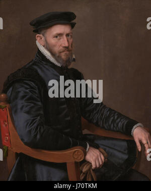 Anthonis Mor   Sir Thomas Gresham (1519 - 1579). Merchant and financial agent of the English crown in the Netherlands - Stock Photo