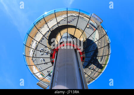 Brighton British Airways i360 observation tower on the seafront, Brighton, East Sussex, UK - Stock Photo