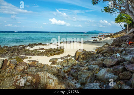 Beach of the Andaman sea in Phuket, Thailand - Stock Photo