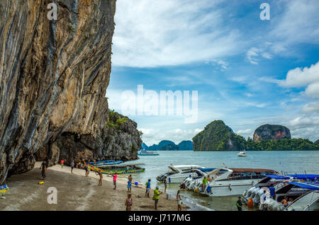 Tourists on the Islands of Phuket, Thailand - Stock Photo