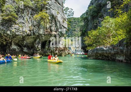 Kayaks on the Islands of Phuket, Thailand - Stock Photo