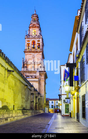 Cordoba, Spain. Bell tower at the Mezquita Mosque-Cathedral. - Stock Photo