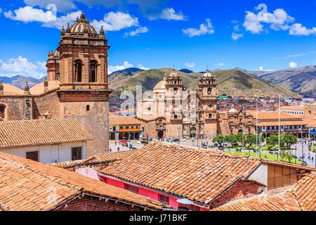 Cusco, Peru the historic capital of the Inca Empire. Plaza de Armas. - Stock Photo
