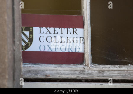 Oxford, UK. 22nd May, 2017. Exeter College, where Radiohead played at the 1988 'Exeter Event' supporting Icicle - Stock Photo